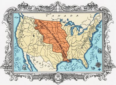 The History Of The Louisiana Purchase - Louisiana purchase and western exploration us history map activities