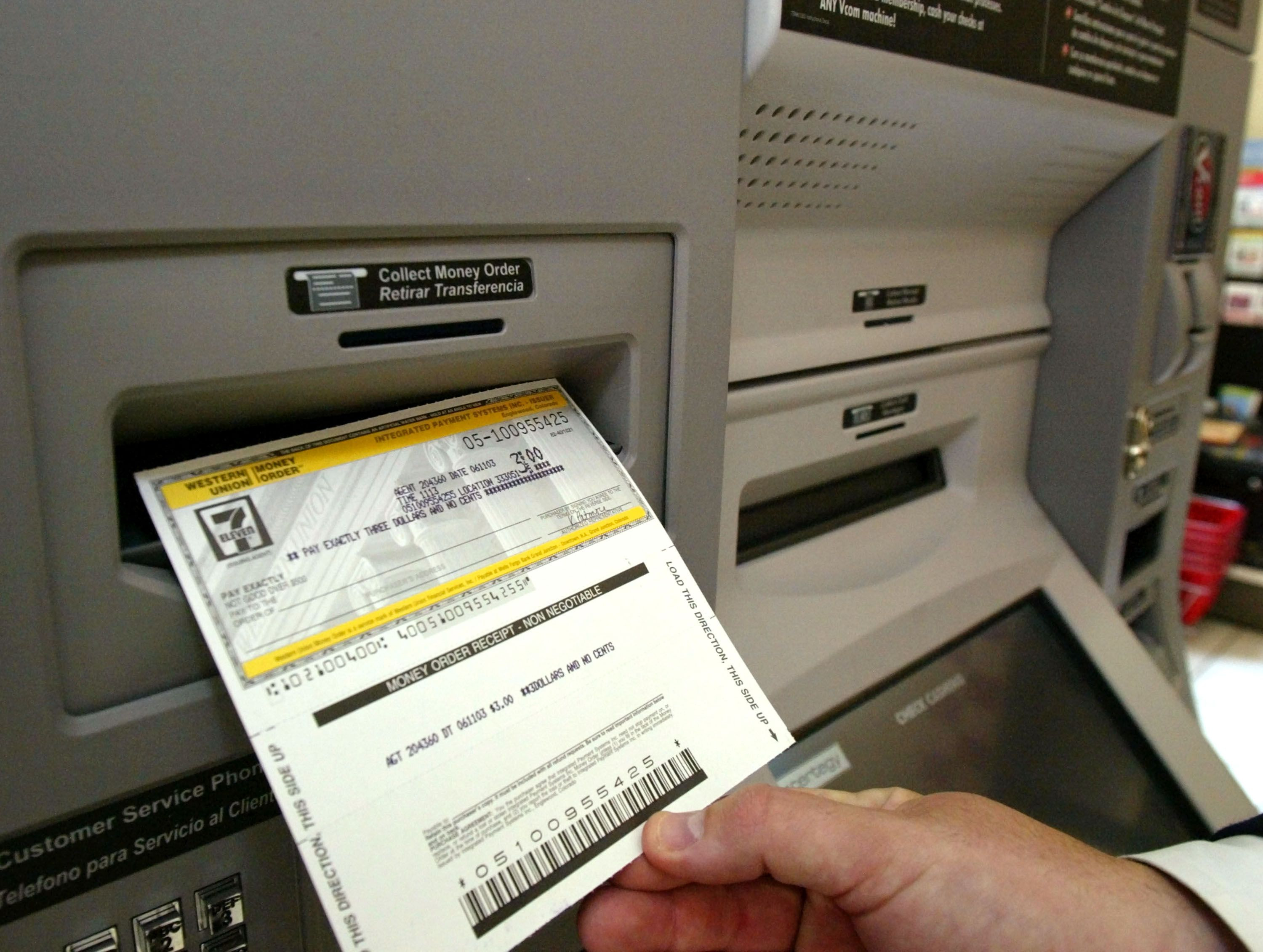 Tips for making atm deposits without slips or envelopes money order printed ccuart Choice Image