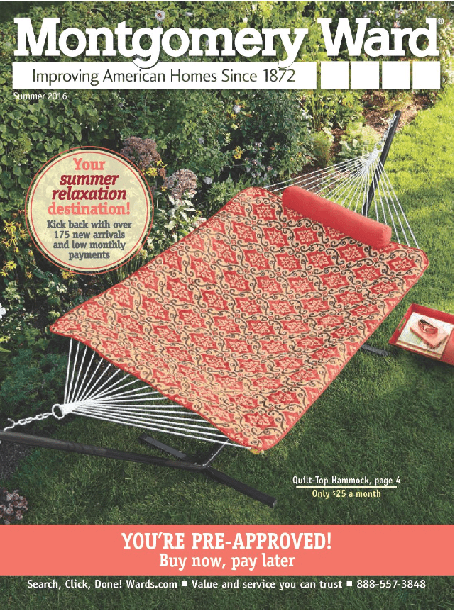 Screenshot of a Montgomery Ward online catalog