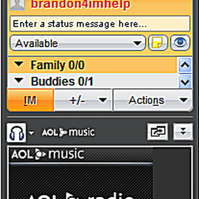 Launching AOL Desktop to Use AIM Chat