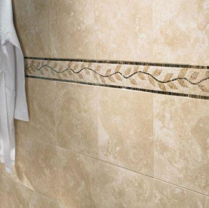 Bathroom Travertine and Listello. Travertine Tile Ideas   Granite and Travertine in Shower