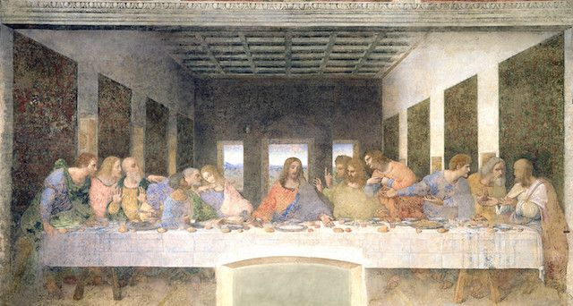 Painting of The Last Supper by da Vinci showing one-point perspective