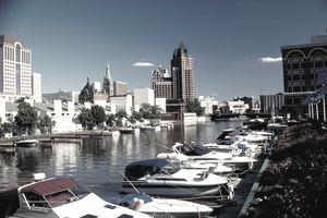 Leisure boating, Milwaukee, Wisconsin
