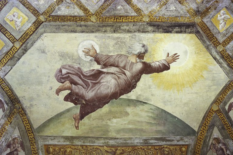 """""""The Creation of the Sun and Moon"""" by Raphael"""