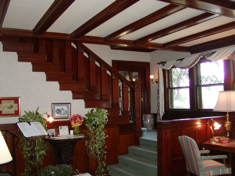 A Craftsman-like interior at The Manor on Golden Pond in Holderness, New Hampshire