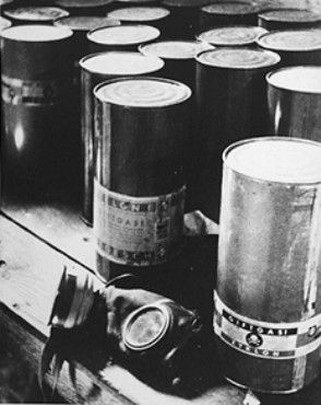 Zyklon B gas canisters