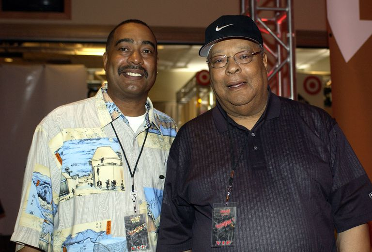 Earl Woods Jr. and Earl Woods Sr. at Tiger Jam in 2002