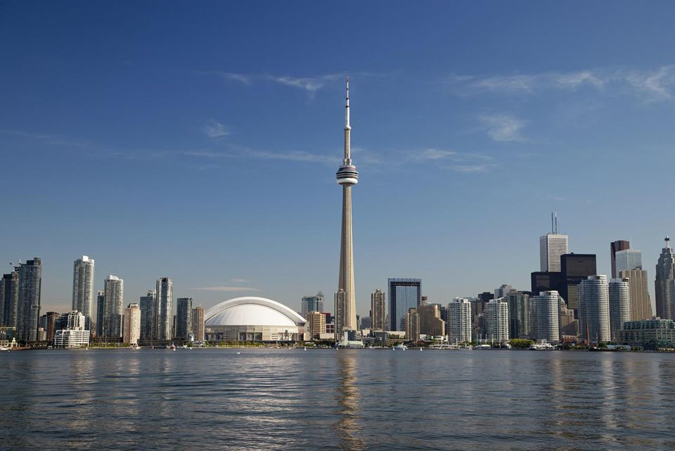 Skyline of Toronto with CN Tower