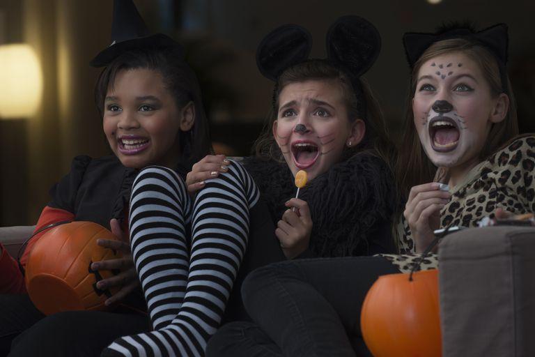 Kids scared on Halloween