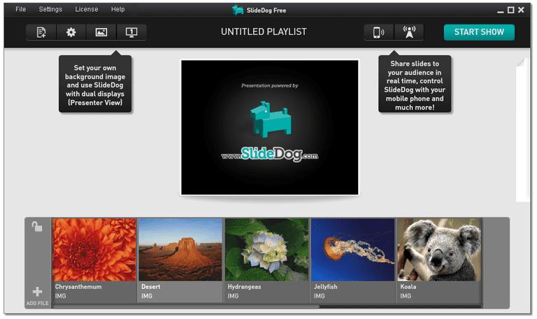 Screenshot of SlideDog