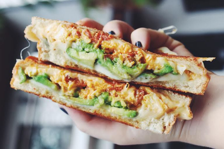 Avocado And Chorizo Breakfast Grilled Cheese