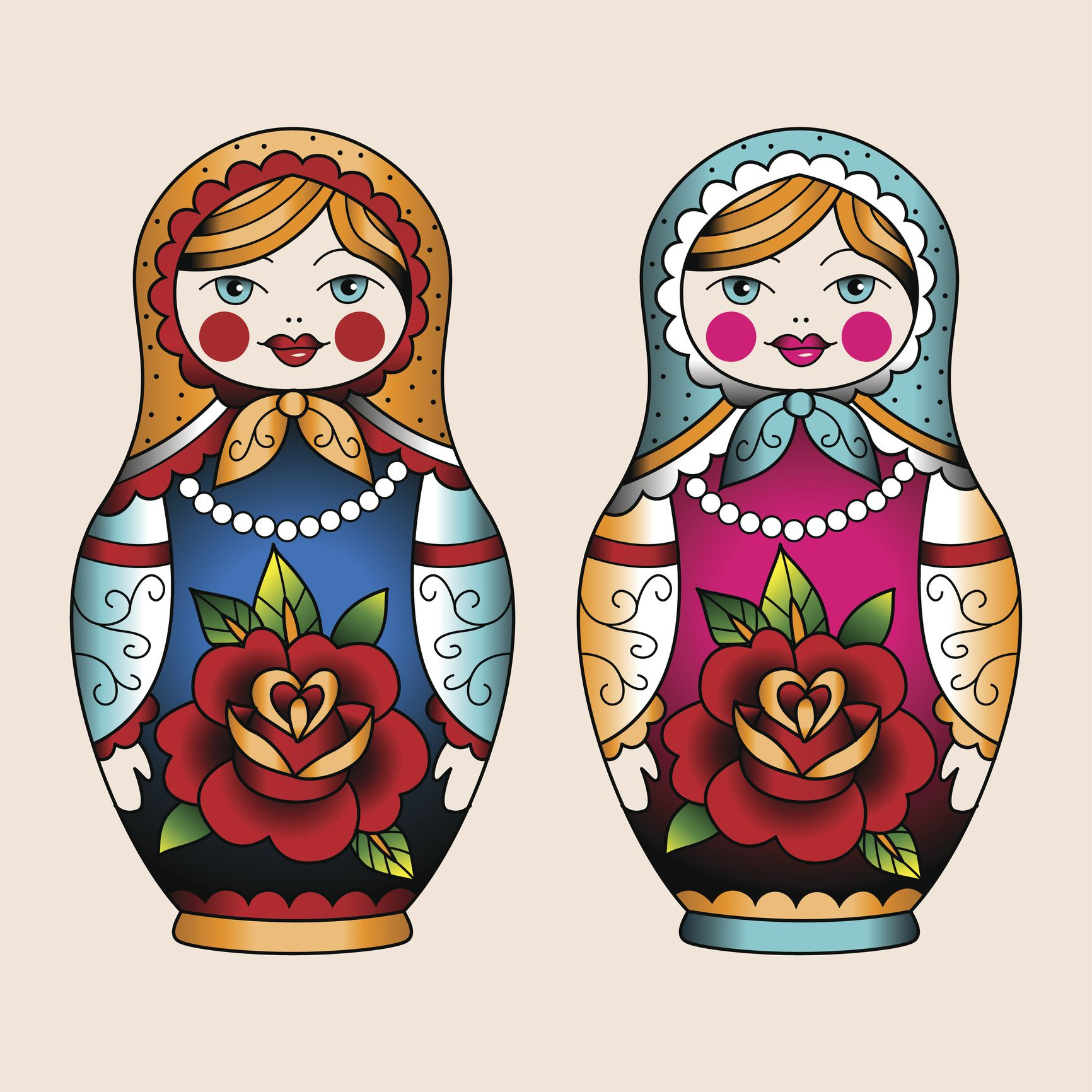 Russian Doll Matryoshka Tattoo Ideas
