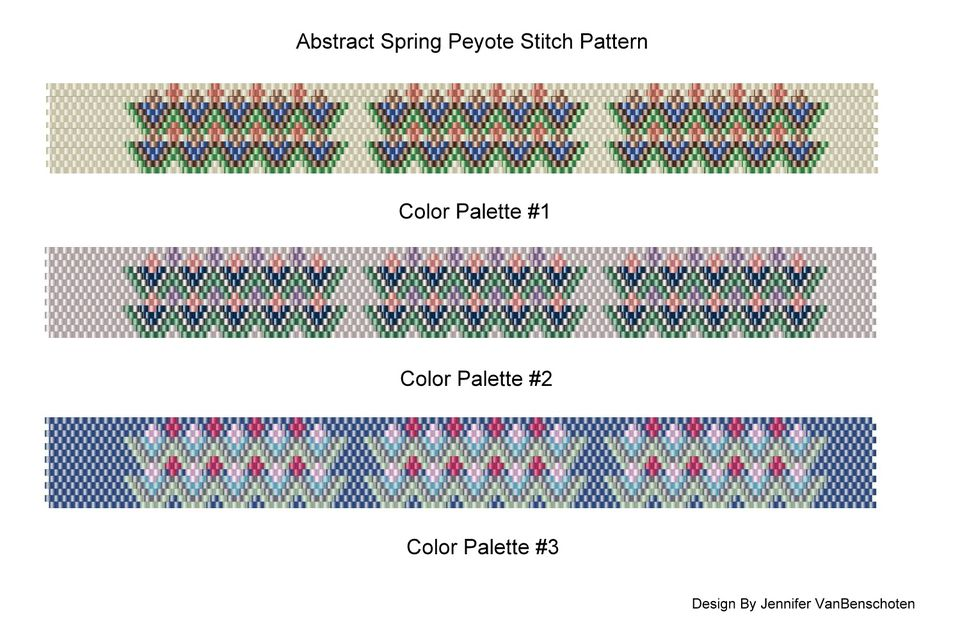 Abstract Spring Peyote Pattern