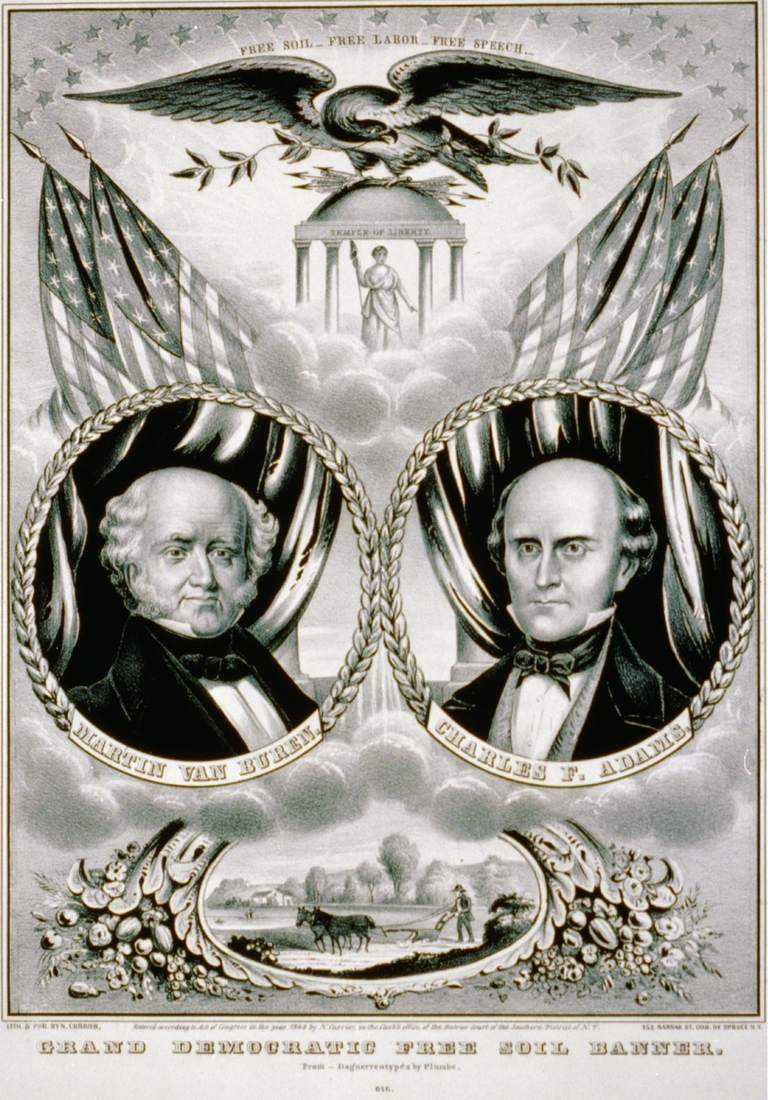 Free Soil Party banner from 1848 presidential campaign.