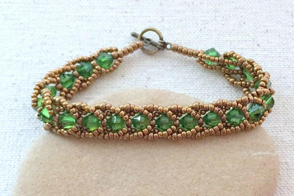 Emerald City Flat Spiral Bracelet