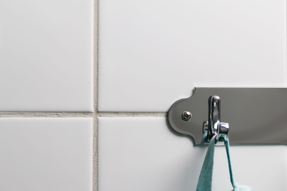 Rack Attached to Tile Wall