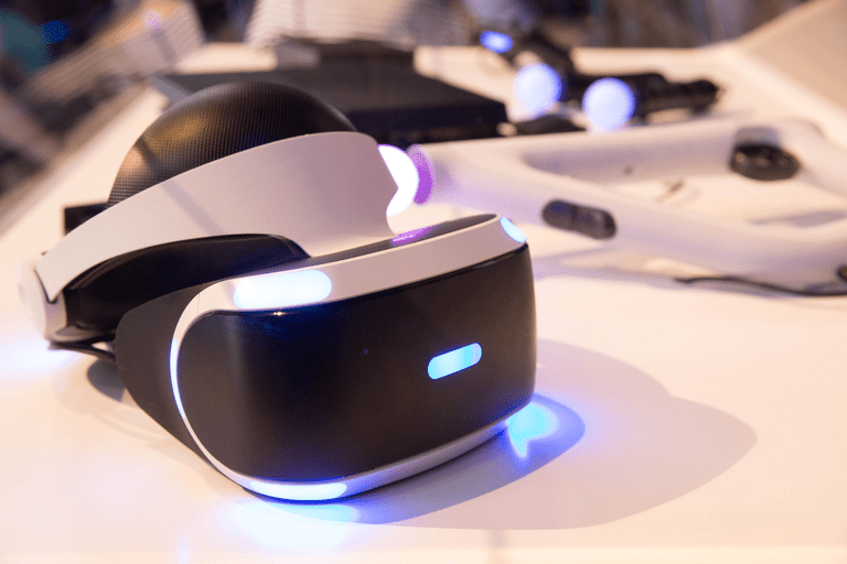 The PlayStation VR headset.