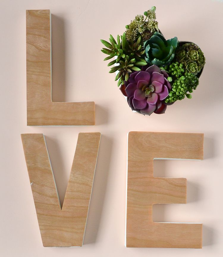 faux wood wall letters