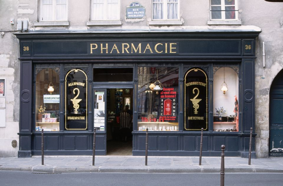 Pharmacy on Rue des Francs Bourgeois