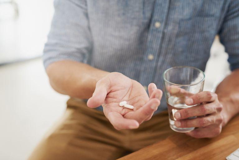 Taking pain medicine