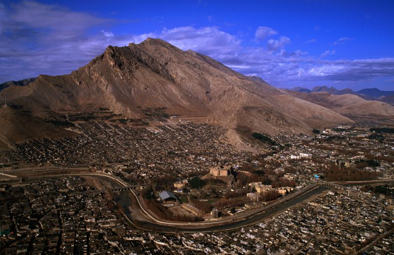 Aerial of the Zagros Mountains, Lorestan, Iran