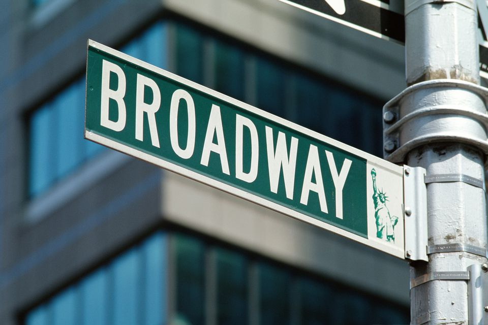 Broadway street corner in New York