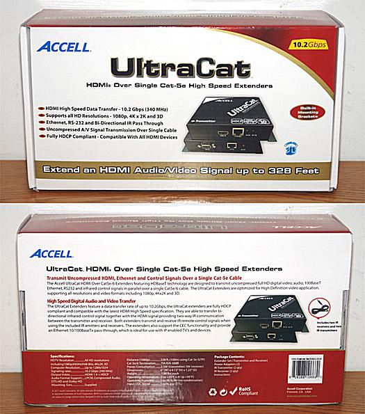 Accell UltraCat HD - HDMI Single Cat-5e High Speed Extender - Box - Dual View