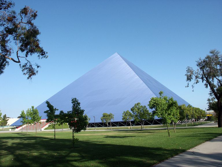 The Walter Pyramid is a collegiate athletic facility located at Long Beach State University in Long Beach.
