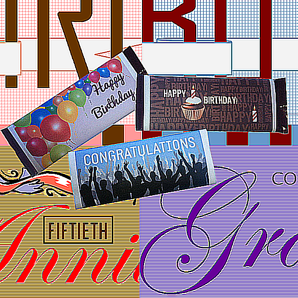 1.55 oz Candy Bar Wrapper Templates in .PUB format