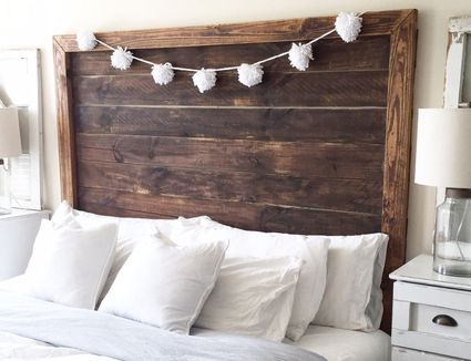 25 stylish diy headboards you can make in a weekend or less design ideas by style - Diy Design Ideas