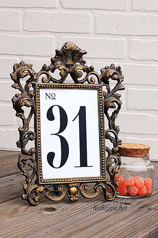 107 Sets of Free Printable Wedding Table Numbers