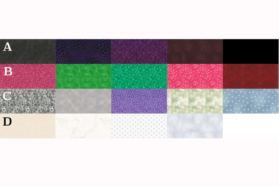 Mystery Quilt Fabric Swatches