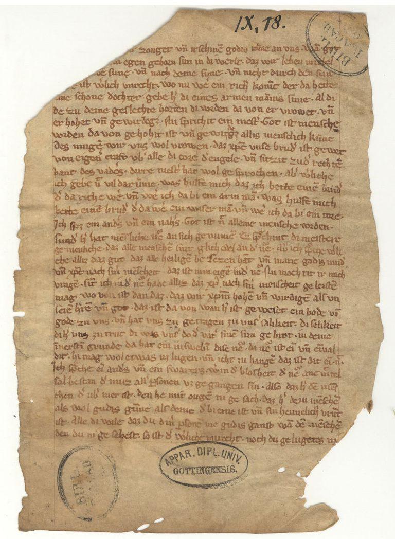 Meister Eckhart sermon fragment