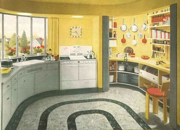 1940s home style kitchen decor - Midcentury Kitchen Decor