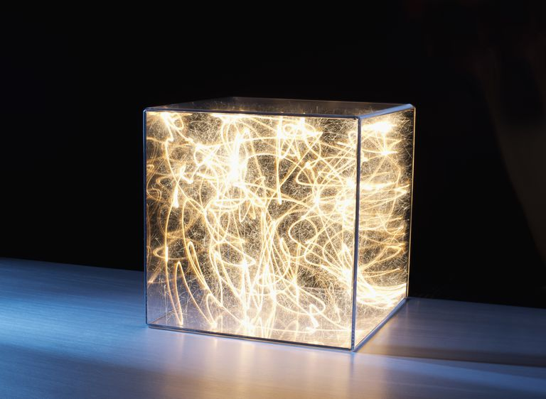 If this box were an isolated system, light would be unable to enter or exit.