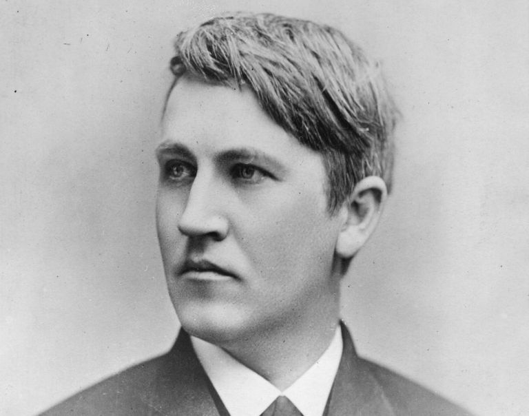 Photographic portrait of Thomas Edison