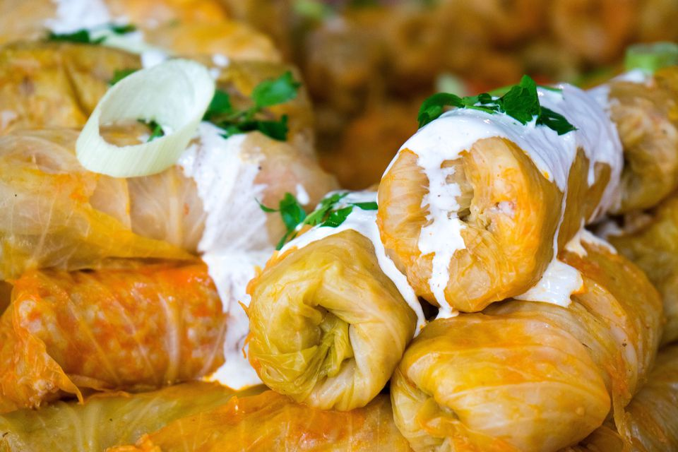 Stuffed Cabbage with Sour Cream