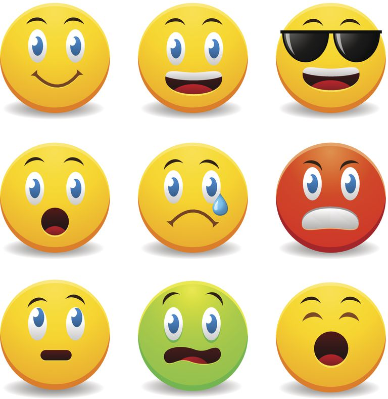 Emoticons, emojis, stickers and gifs in Facebook Messenger.