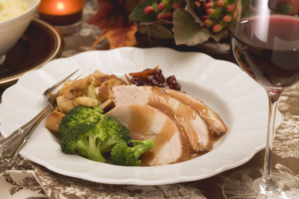 Turkey breast with accompaniments for Thanksgiving (USA)