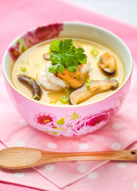 Steamed egg with seafood recipe