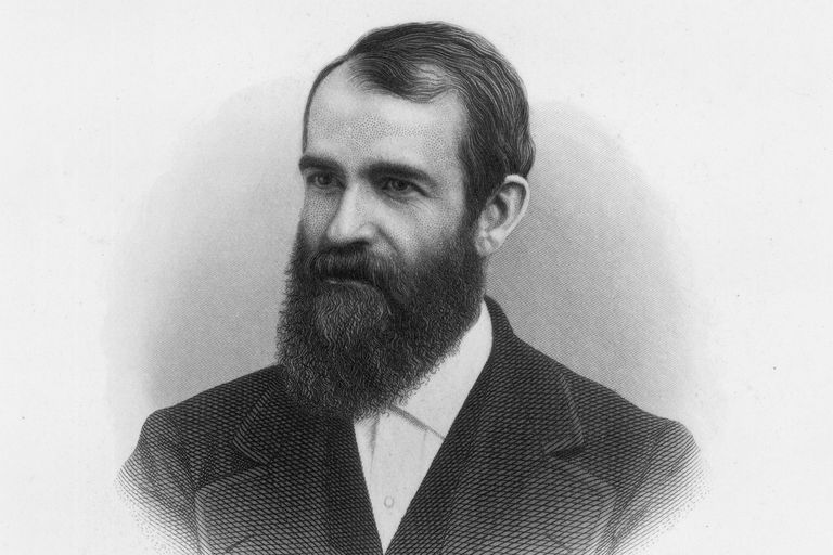 Engraved portrait of financier Jay Gould