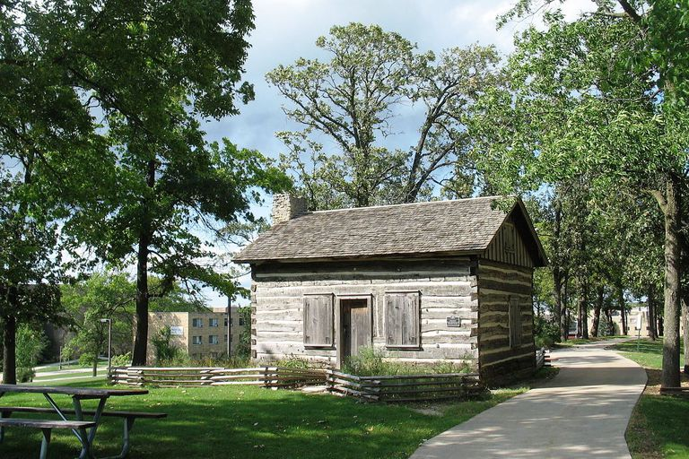 Halverson Log Cabin at the University of Wisconsin-Whitewater