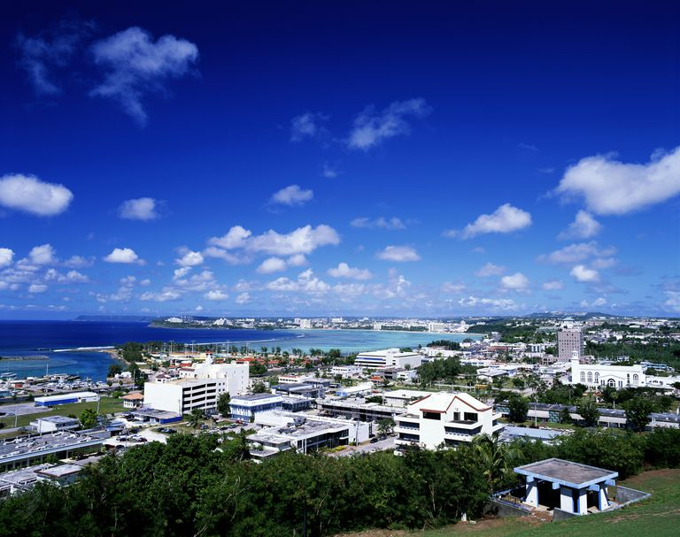 Guam, Agana, Agana Heights and harbour