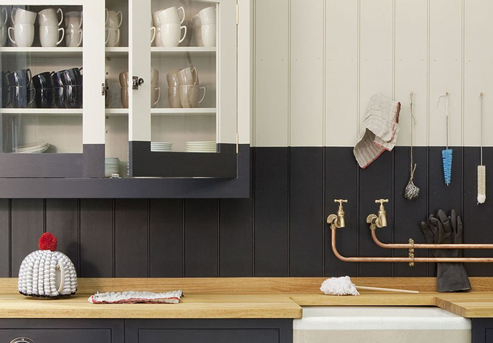 Two-Toned Kitchen Paint With a Twist