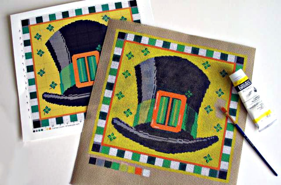 Paint on Needlepoint Canvas With These Simple Steps