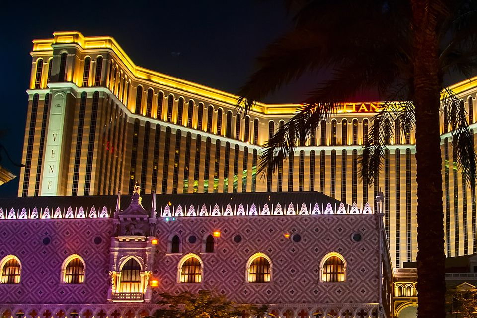 Venetian Macao Resort Hotel night view