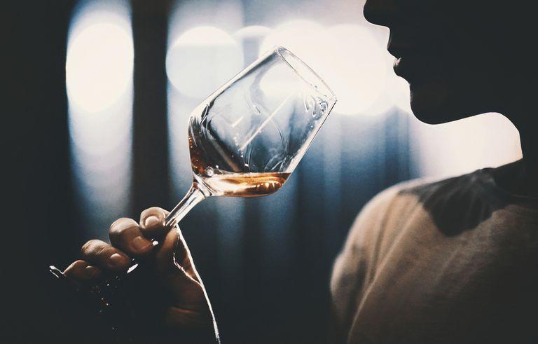 Wine tasting in wine cellar