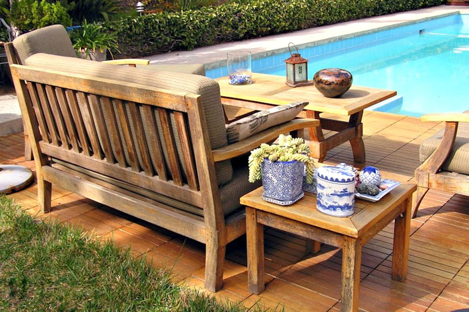 shorea patio set. How to Clean and Care for Wood Garden Furniture