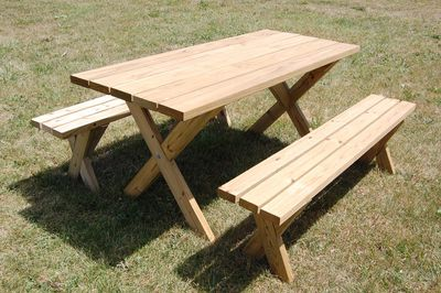 12 free diy woodworking plans for a farmhouse table build yourself a picnic table with one of these 13 free plans solutioingenieria Choice Image