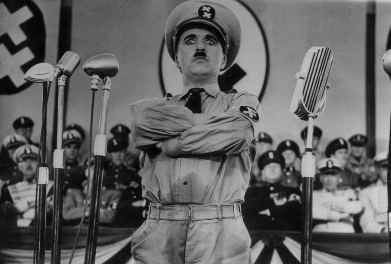 Charlie Chaplin in The Great Dictator